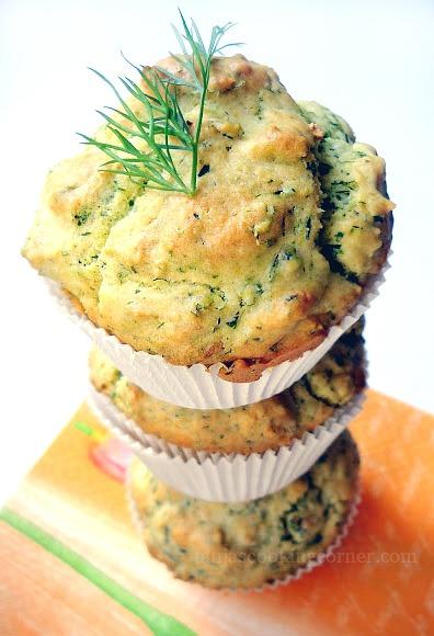 frühlingsfrische Kräuter-Muffins/ proljetni muffini