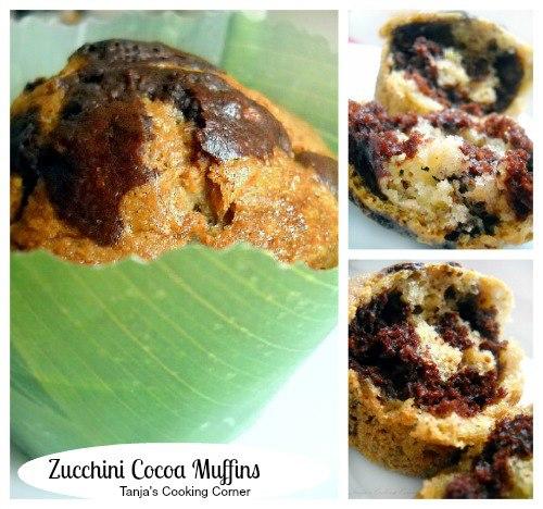 cocoa zucchini muffins