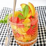 Marokkanischer Orangen-Melonen Fruchtsalat/ Marokanska voćna salata/ Moroccan Orange Melon Summer Sa...