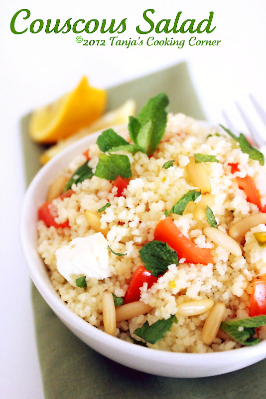 Fresh Mint & Goat Cheese Couscous/ Couscous s ovčijim sirom, pinjolima i mentom