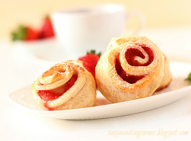 strawberry puff pastry rose_3