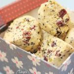 Black Sesame Cranberry & Pistachio Cookies | Keksići s crnim susamom, pistacijama & brusnica...