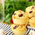 Garlic Chickpea Muffins with Cheese | Muffini sa slanutkom, češnjakom i sirom